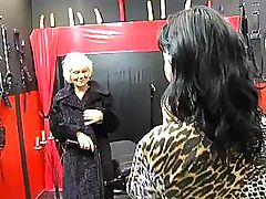 Lesbo granny with hairy cunt wants to get intensive fingering