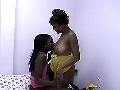 Sex adventure with black lesbian beauty