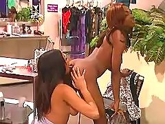 Lustful black girls fuck non stop