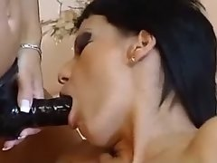Hot ebony licks sweet pussy outdoor