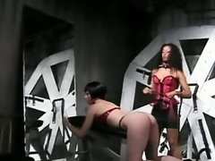 Brunette tortured by lesbi mistress